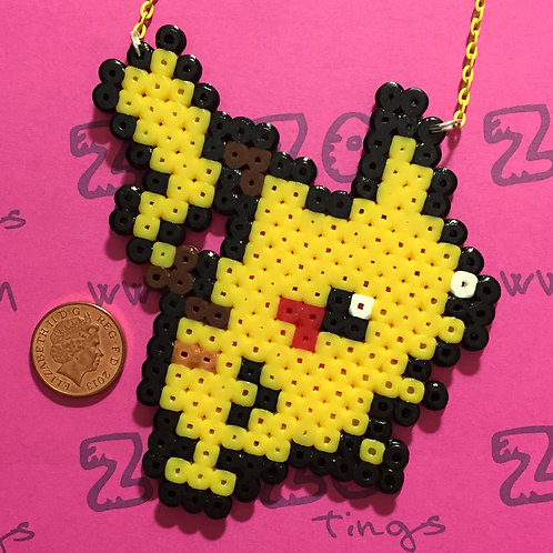 Pokemon Pikachu Pixel Necklace