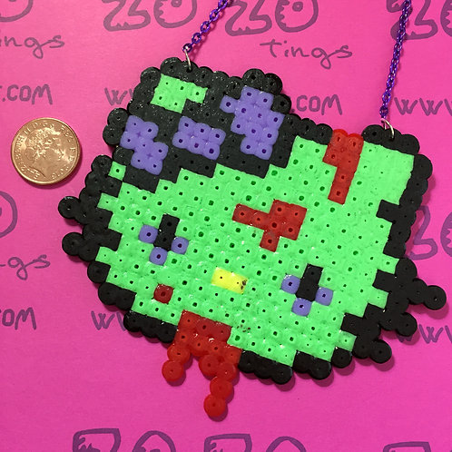 Hello Kitty Zombie Pixel Necklace