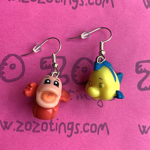 The Little Mermaid 'Sebastian & Flounder' Earrings