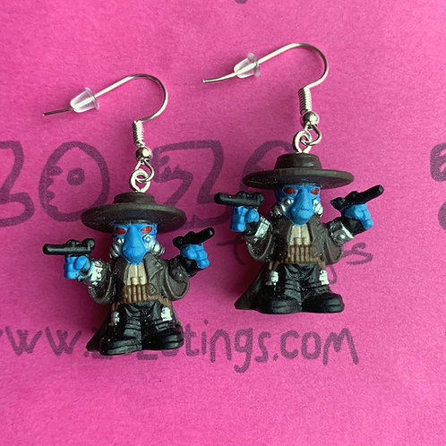 Star Wars Cad Bane Bounty Hunter Fighter Pod Earrings
