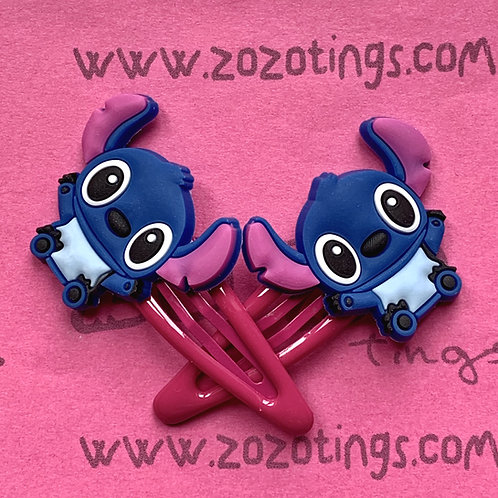 Stitch Snap Hair Clips