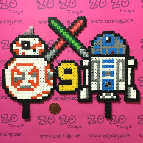 Star Wars Pixel Birthday Cake Topper