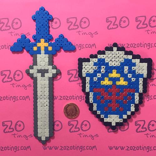 Zelda Pixel Cake Topper Set