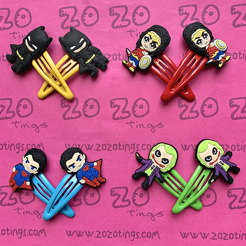 DC Universe Snap Hair Clips