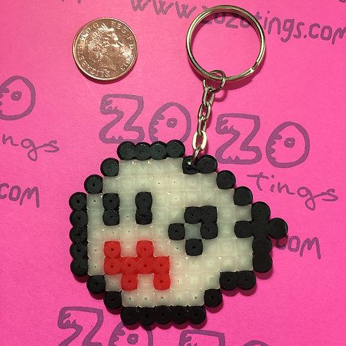 Mario Boo 'Glow' Ghost Pixel Keyring