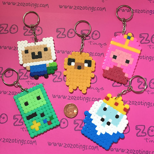 Adventure Time Pixel Keyrings