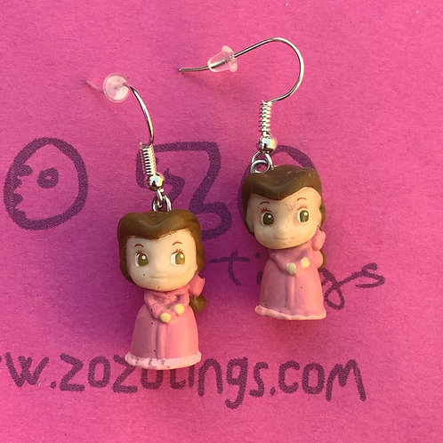 Beauty and the Beast 'Belle Pink Dress' Earrings