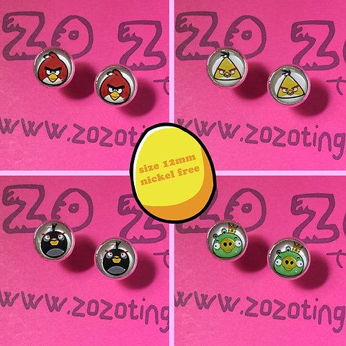 Angry Birds Stud Earrings