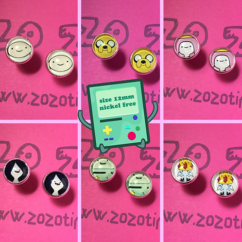 Adventure Time Stud Earrings