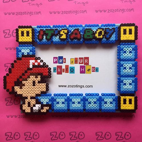 Baby Mario Pixel Photo Frame