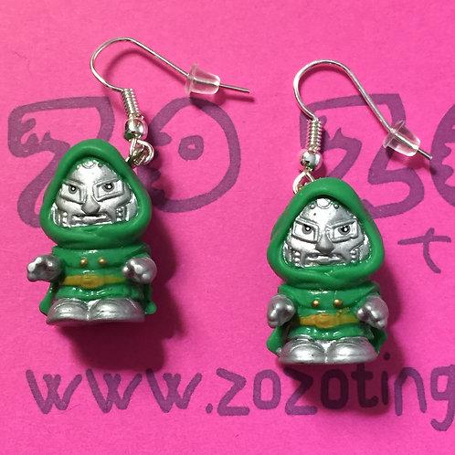 Doctor Doom Squinkie Earrings