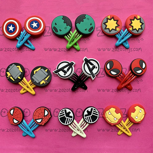 Marvel Avengers Snap Hair Clips