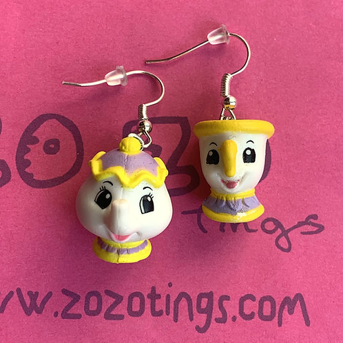 Beauty and the Beast 'Mrs Potts & Chip' Earrings