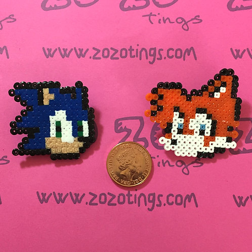 Sonic the Hedgehog Pixel Badges