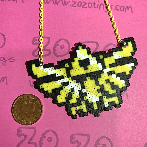 Zelda Hylian Crest Pixel Necklace