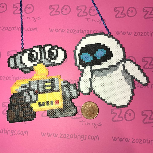 Wall-E & EVE Pixel Necklace
