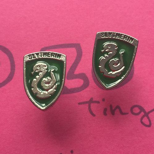 Harry Potter Slytherin Metal Stud Earrings