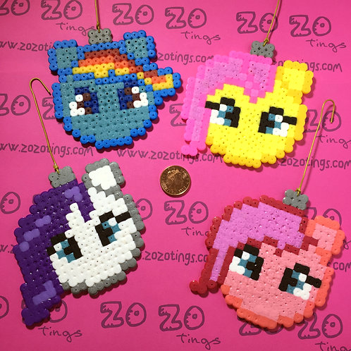 My Little Pony Christmas Pixel Baubles
