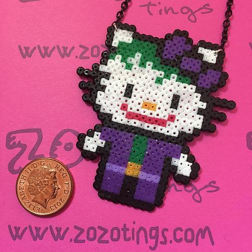 The Joker Kitty Pixel Necklace