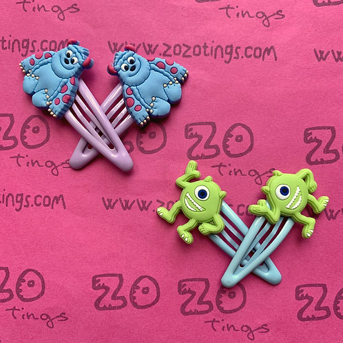 Monsters Inc. Snap Hair Clips