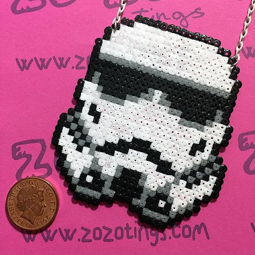 Star Wars Stormtrooper Pixel Necklace