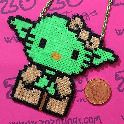 Star Wars Yoda Kitty Pixel Necklace