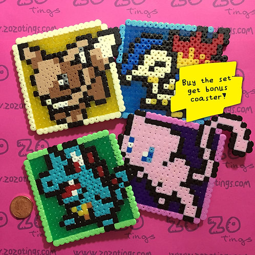 Pokemon Set 2 Pixel Coasters