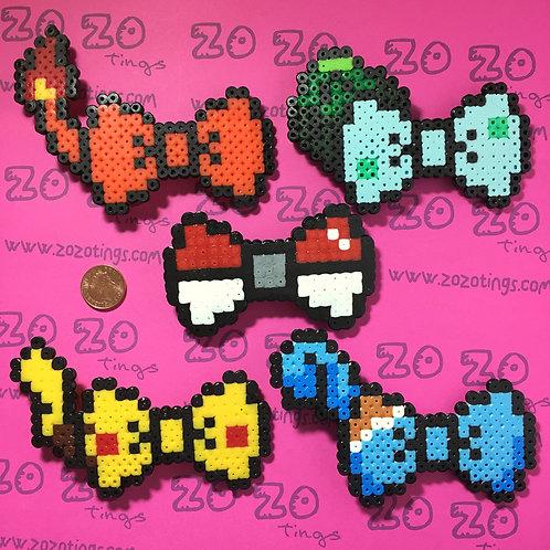 Pokemon Pixel Hair Bows