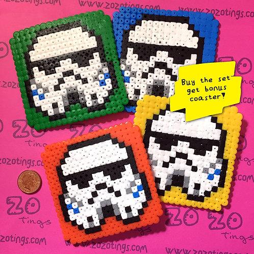 Star Wars Stormtrooper Pixel Coasters