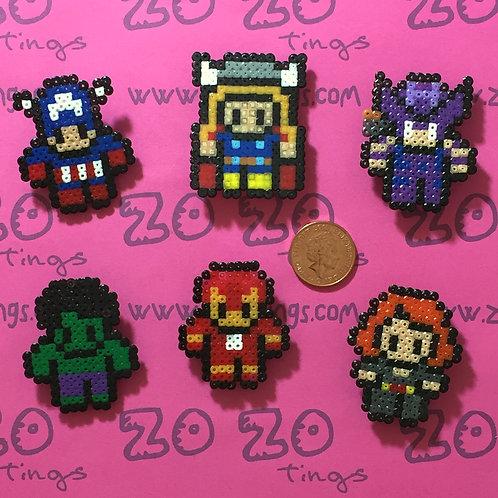 The Avengers Pixel Badges