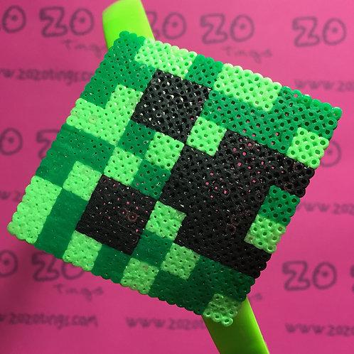Minecraft Creeper Pixel Headband