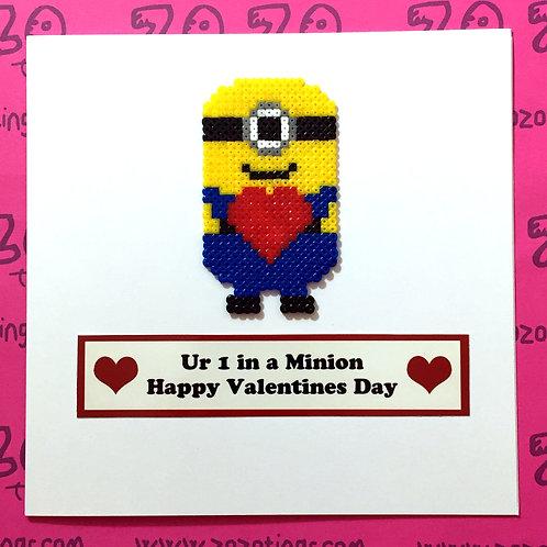 Minion Valentine's Day Card