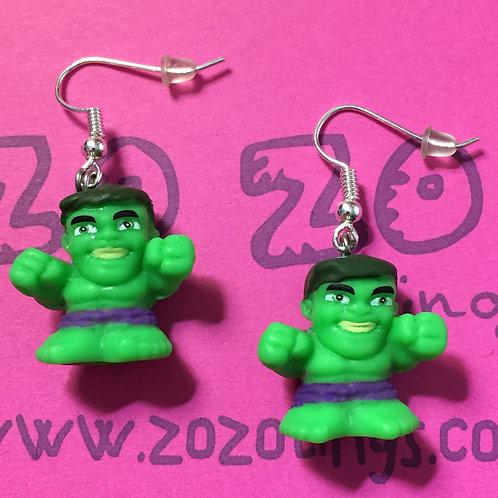 The Hulk Smile Squinkie Earrings