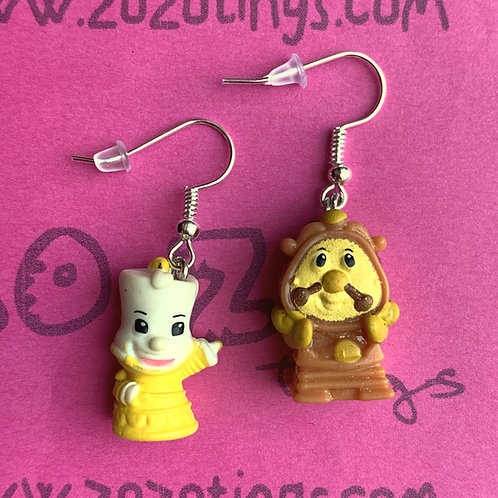 Beauty and the Beast 'Lumiere & Cogsworth' Earrings