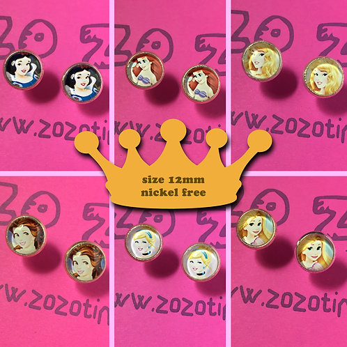 Disney Princess Stud Earrings