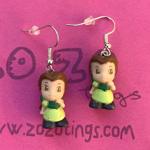 Beauty and the Beast 'Belle Green Dress' Earrings
