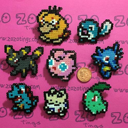 Pokemon Set 2 Pixel Badges