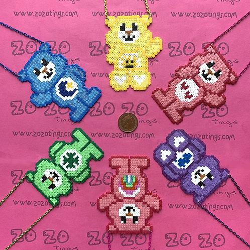 Care Bear Pixel Necklaces