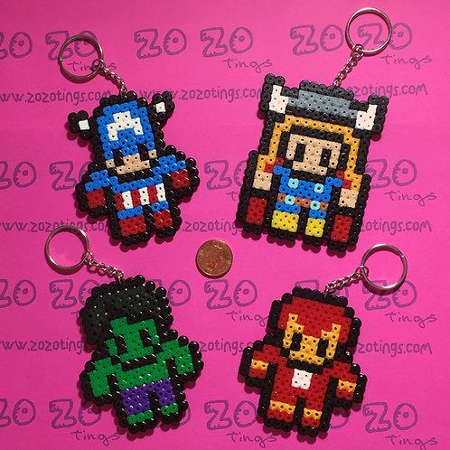 The Avengers Pixel Keyrings