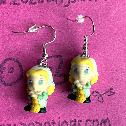 Cinderella Broom Earrings
