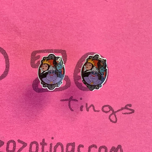 Disney Villain Resin Stud Earrings