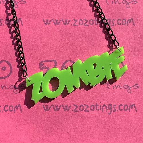 Zombie Charm Necklace