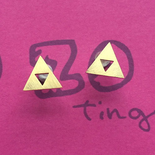 Legend of Zelda Triforce Metal Stud Earrings