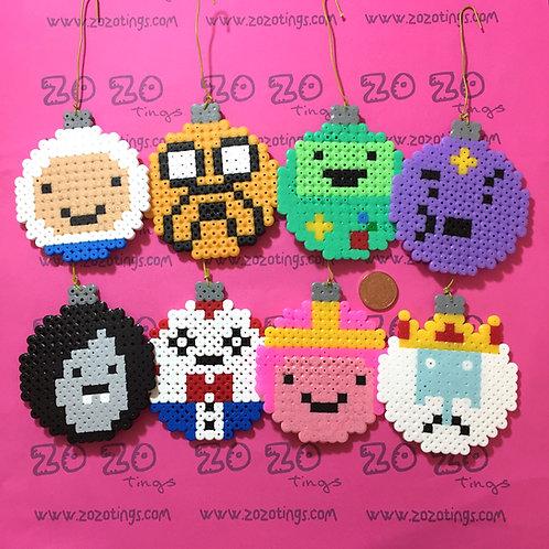 Adventure Time Christmas Pixel Baubles