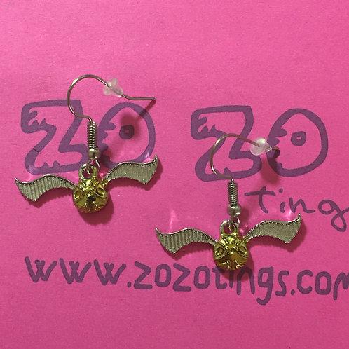 Harry Potter Golden Snitch Metal Earrings