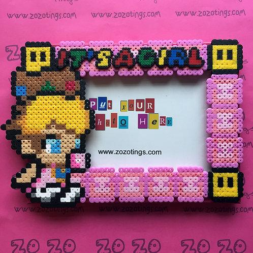 Baby Princess Peach Pixel Photo Frame