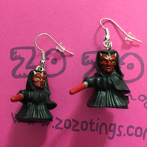 Star Wars Darth Maul Sith Fighter Pod Earrings