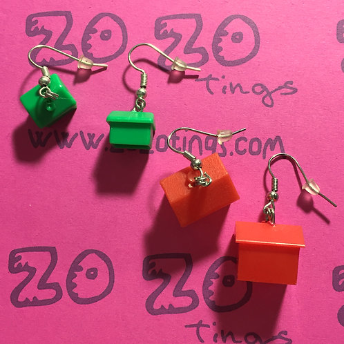 Monopoly Earrings