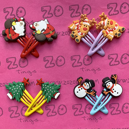 Merry Christmas Snap Hair Clips