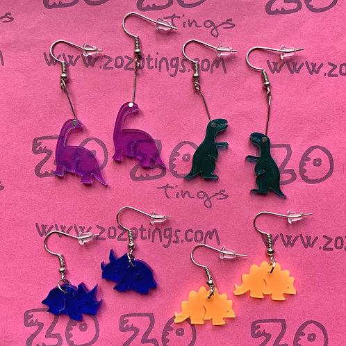 Dinosaur Acrylic Earrings